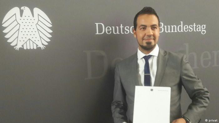 """Deutschland   Mohammed EL Ouahhabi und sein Projekt """"Integration durch Sport"""" (privat)"""