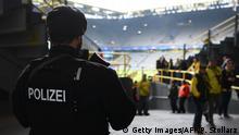 Dortmund - nach der Explosion am Bus - Sicherheit im Stadion