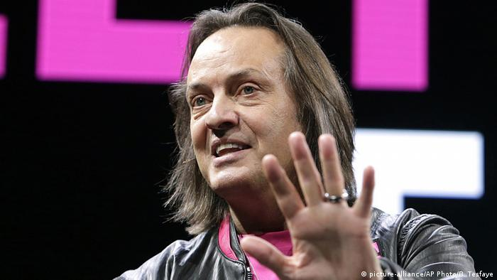 Picture of long-haired John Legere, CEO of T-Mobile