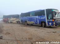 Автобуси, що вивозять евакуйованих