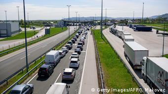Пробка на границе Словении