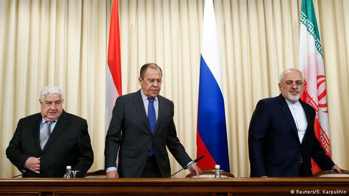 Russland Treffen von Lavrov, Javad Zarif und Muallem in Moskau (Reuters/S. Karpukhin)