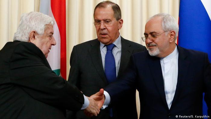 Ministri vanjskih poslova Rusija, Sirije i Irana (Lavrov, Javad Tarif i Muallem)