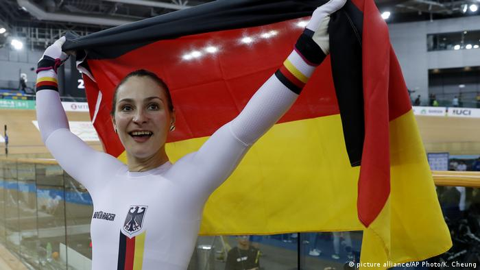 Hong Kong World Track Cycling championships - Kristina Vogel (picture alliance/AP Photo/K. Cheung)