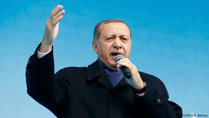 Türkei   Erdogan wirbt für Referendum auf einer Veranstaltung in Konya