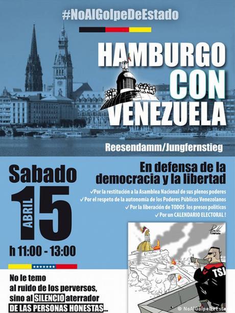 NoAlGolpeDeEstado -Venezuela Demonstration in Chemnitz, Frankfurt und Hamburg