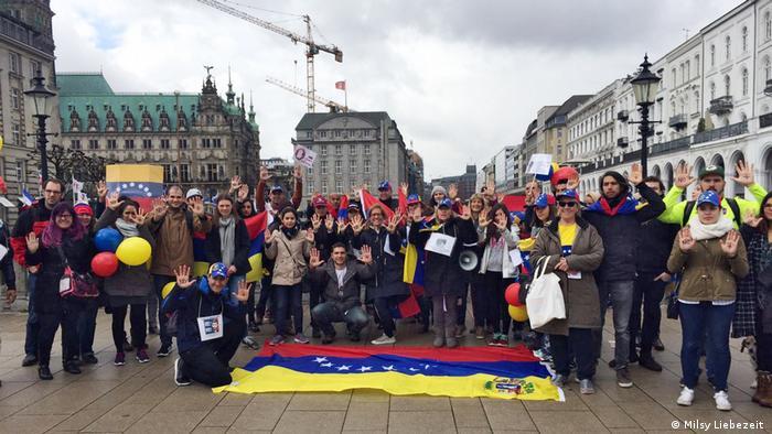 Hamburg - Anti-Regierungsproteste - Venezuela (Milsy Liebezeit )