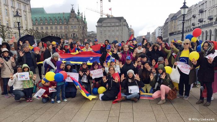 Protesto anti-Maduro em Hamburgo