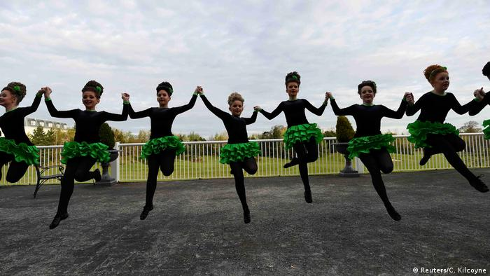 Dancing around the issue: World Irish Dancing Championships in Dublin last week.