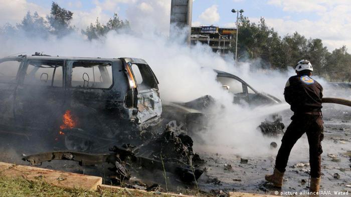 Syrien Anschlag bei Aleppo (picture alliance/AA/A. Watad)