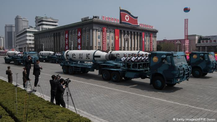 Военный парад в КНДР по случаю 105-летия со дня рождения Ким Ир Сена, апрель 2017 года