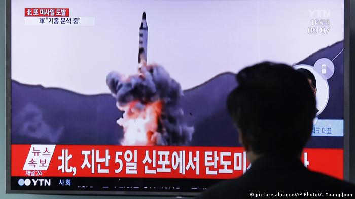 File footage of a missile test in April