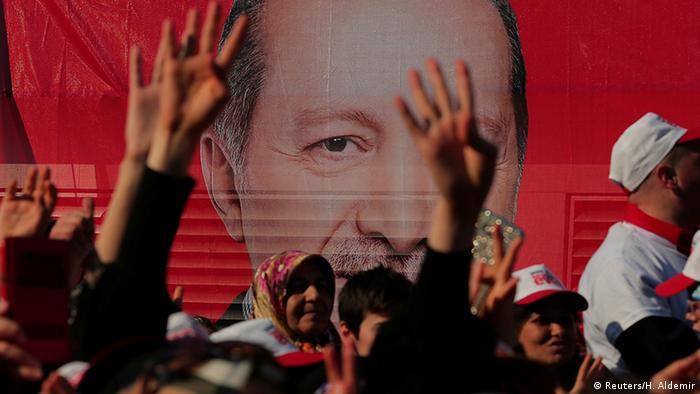 сторонники Эрдогана на митинге