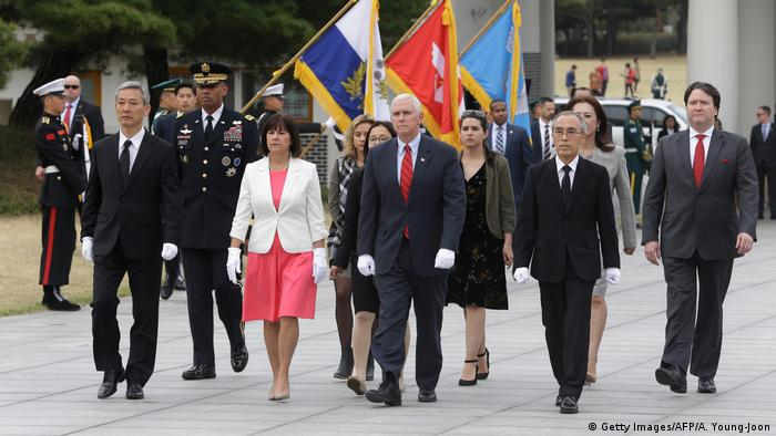 Südkorea Besuch US Vizepräsident Mike Pence (Getty Images/AFP/A. Young-Joon)
