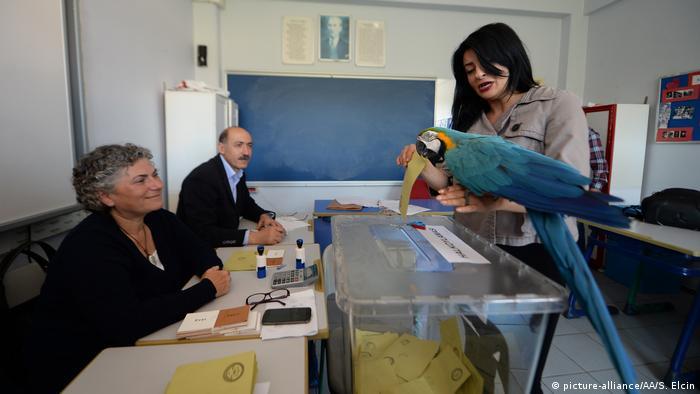 Türkei   Abstimmung über das Referendum (picture-alliance/AA/S. Elcin)