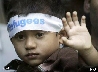 A young Rohingya refugee from Myanmar