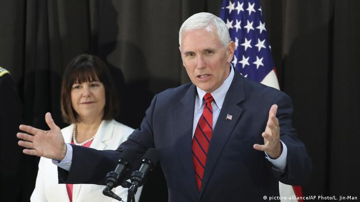 Südkorea Besuch US Vizepräsident Mike Pence (picture-alliance/AP Photo/L. Jin-Man)