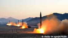 Nordkorea provoziert mit weiterem Raketentest (Getty Images/AFP/Str.)