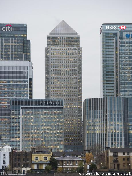 The Canary Wharf banking center in London
