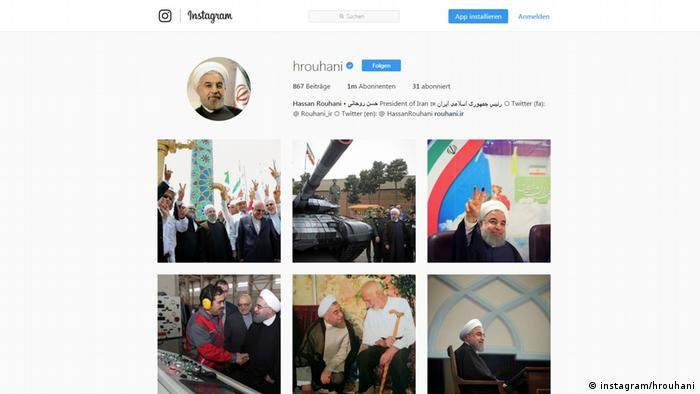 Screenshot Instagram Account Hassan Rouhani (instagram/hrouhani)