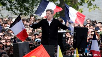 Frankreich   Präsidendschaftskandidat Jean-Luc Melenchon in Toulouse