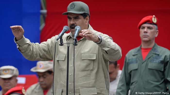 Setzt auf die Armee und die Milizen: Präsident Nicolas Maduro