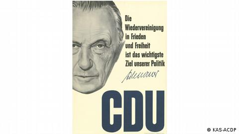 Political CDU poster from 1952 West Germany (KAS-ACDP)
