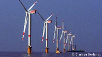 Offshore windmills in the North Sea
