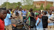 Niger Niamey Demonstration für besser Studienbedingungen