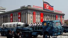 Nordkorea Militärparade in Pjöngjang