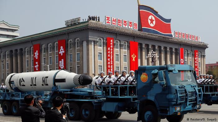 Nordkorea Militärparade in Pjöngjang (Reuters/S. Sagolj)