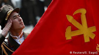 Militärparade in Pjöngjang zum 105. Geburtstag von Staatsgründer Kim Il Sung