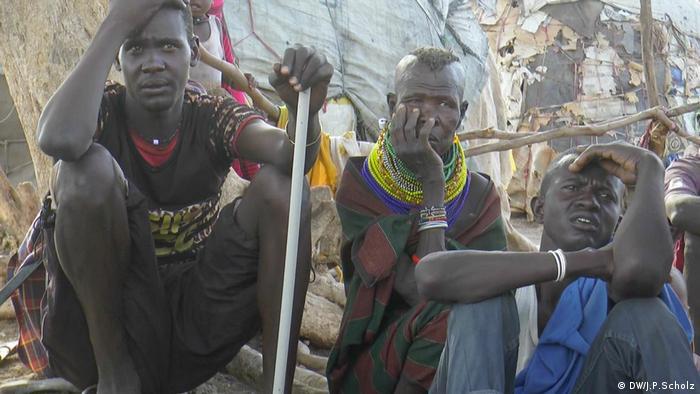 Turkana Siedlung neben Flüchtlingslager Dürre in Kenia