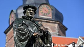 A Martin Luther memorial statue in Eisleben
