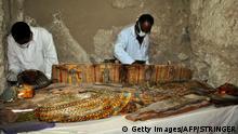 Múmias estavam em sarcófagos de madeira