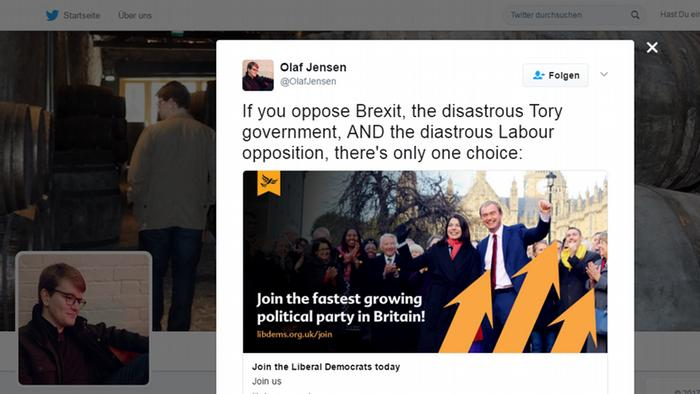 Lib Dems Twitter Screenshot