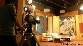 The set of Rojbash Kurdistan or Good Morning Kurdistan at Kurdish television station ROJ TV