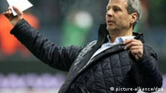 Lucien Favre during a soccer match