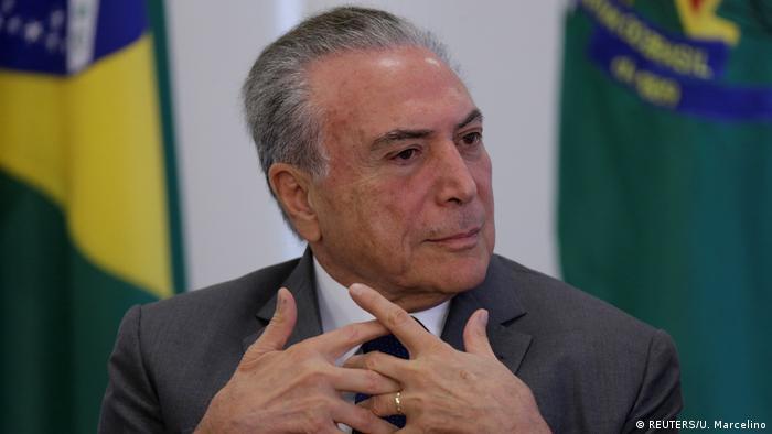 Brasilien Präsident Michel Temer im Planalto Palace in Brasilia