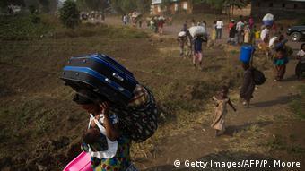 Kongo Flüchtlinge in Munigi