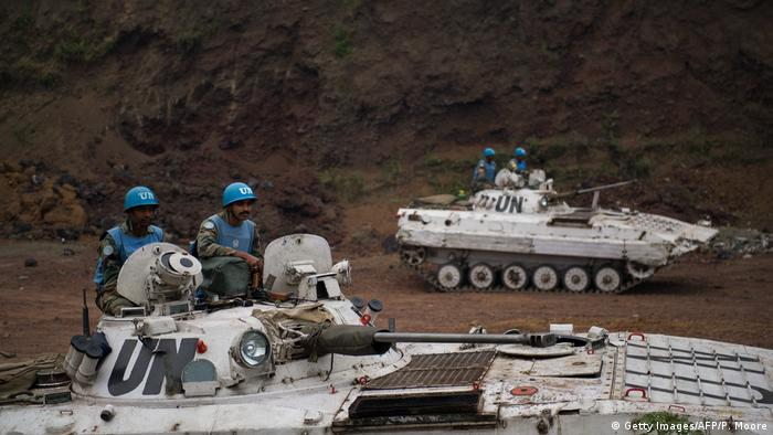 Indian peacekeepers operating as part of the United Nations Stabilisation Mission for the Congo (Getty Images/AFP/P. Moore)