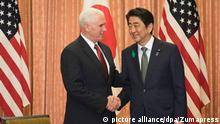 Japan Mike Pence und Shinzo Abe