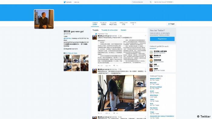 Screenshot Twitter Guo Wengui (Twitter)
