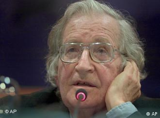 American linguist and political activist Noam Chomsky listens to a question during a conference in Santo Domingo, Dominican Republic, Thursday, March 9, 2006. (AP Photo/Ramon Espinosa)