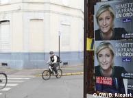У місті помітно лише передвиборчі плакати Марін Ле Пен