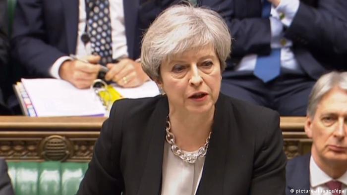 Тереза Мэй в британском парламенте