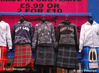 Scotland sweatshirts and kilts