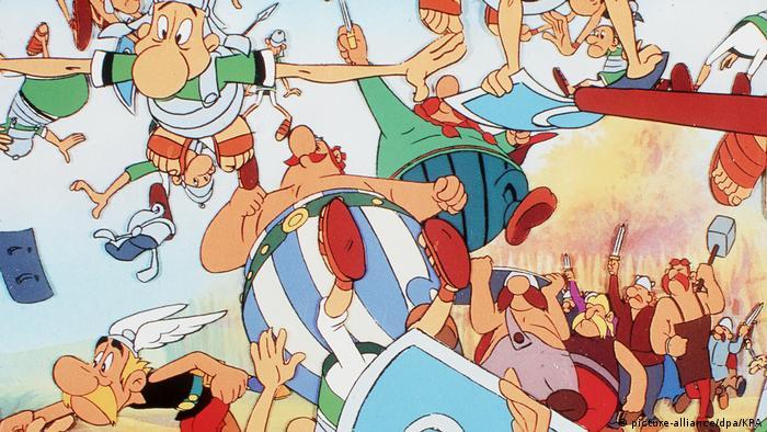 Cuando estos galos salvajes se topan con soldados romanos es cuando empieza la acción.