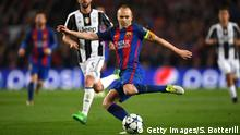BARCELONA, SPAIN - APRIL 19: Andres Iniesta of arcelona shoots during the UEFA Champions League Quarter Final second leg match between FC Barcelona and Juventus at Camp Nou on April 19, 2017 in Barcelona, Spain. (Photo by Shaun Botterill/Getty Images)
