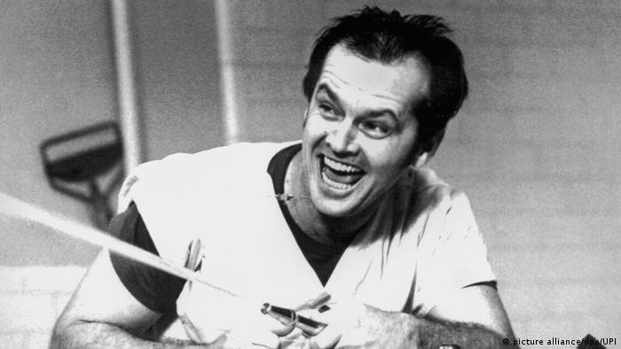 Filmstill Jack Nicholson in Einer flog über das Kuckucksnest (picture alliance/dpa/UPI)